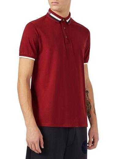 Emporio Armani  Pamuklu Düğmeli Polo T Shirt Erkek Polo S 6H1Ff4 1Jptz 0353 Bordo